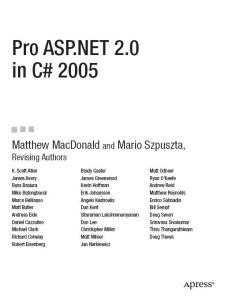 Pro ASP.NET in C# 2005