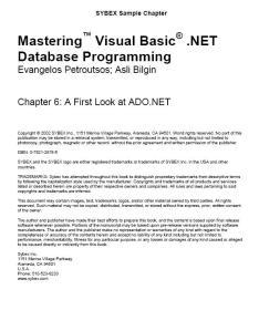 Visual Basic .NET Database Programming